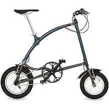 Ossby Curve Bicicleta Plegable, Unisex Adulto, Azul metálico, Talla Única