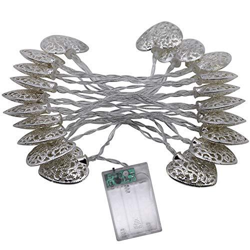 LXQ Solar Lichterketten, 5 Meter Liebesform wasserdichte Weihnachts Solar Star Fairy Dekorative Lichter Mit 8 Mustern Halloween Garten Hochzeit Familie Hof