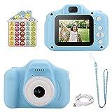 welltop Digitale Kamera für Kinder, Robuste HD Kinderkamera,Kids Camera Digitalkamera 2,0 Zoll Farbdisplay 12 Megapixel 1080p Videokamera mit Aufklebern und USB Kabel