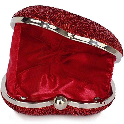 L And S Handbags, Poschette giorno donna Red