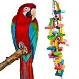 Bird Chew Toy, Parrot Supplies colorido Grinder di legno Toy Stand Bird Cage accessori Durable Hanging Block Bite Large Medium Piccolo Pet Bird Stand Rack Play Toy
