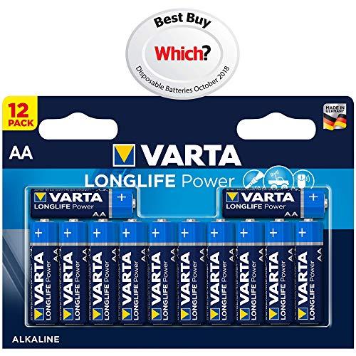 VARTA Longlife Power Batterie AA Mignon Alkaline Batterien LR6, 12er Pack Digital-alkaline-aaa-batterien