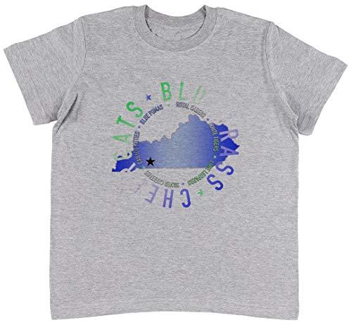 Bluegrass State w Grau T-Shirt Jungen Mädchen Größe XL   Unisex Kids Grey T-Shirt Size XL