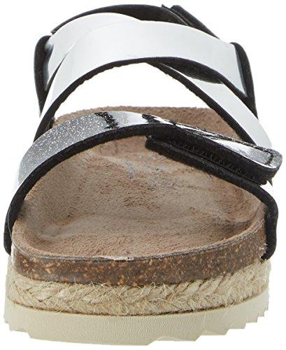 Superfit Fussbettpantoffel, chaussons d'intérieur fille Silber (silber Kombi)