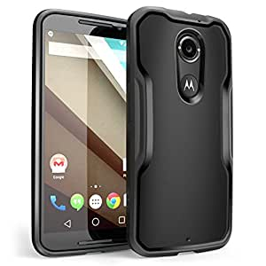 Moto X Case, SUPCASE [Unicorn Beetle Series] for All New Motorola Moto X (2nd Gen.) Phone 2014 Release, Premium Hybrid Bumper Case (Black/Black) - Not Fit Moto X Phone (1st Gen.) 2013 Release