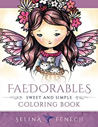 Faedorables - Sweet and Simple Coloring Book: Volume 14 (Fantasy Coloring by Selina)