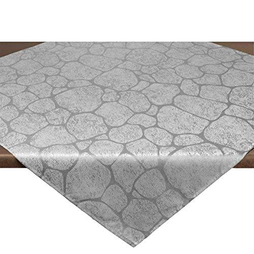 Tischdecke Mitteldecke Stone, Naturstein-Look, 85x85 cm, Grau