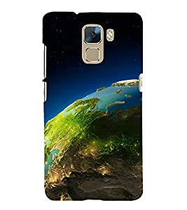 printtech Earth Lights Back Case Cover for Huawei Honor 7