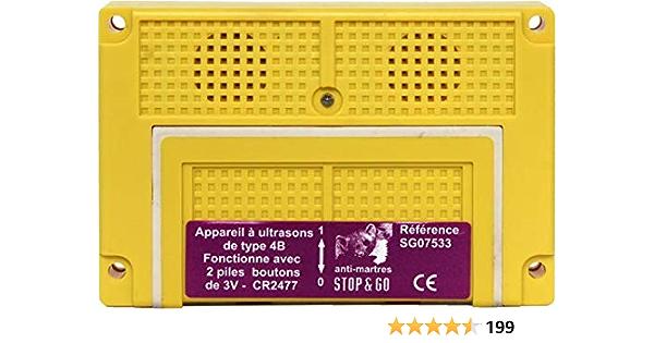 Stop Go Ultraschall Marder Abwehrgerät 07533 Batteriebetrieb Marderschreck 4b Garten