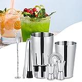 Zetiling Kit da 10 Pezzi Bartender, Set Cocktail Shaker con 2 agitatori, 2 misurini, tritaghiaccio, 1 Filtro per Il Ghiaccio, 2 versatori e 1 Cucchiaio da miscelazione