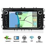 Android 9.0 Autoradio Doppia Din Car Stereo Radio Navigation Per Ford Focus Mondeo S-Max Galaxy C-MAX Supporto Mirror Link 4G WiFi DAB Volante USB Bluetooth |Gratuita Camera & Canbus |7 pollici 2G/32G