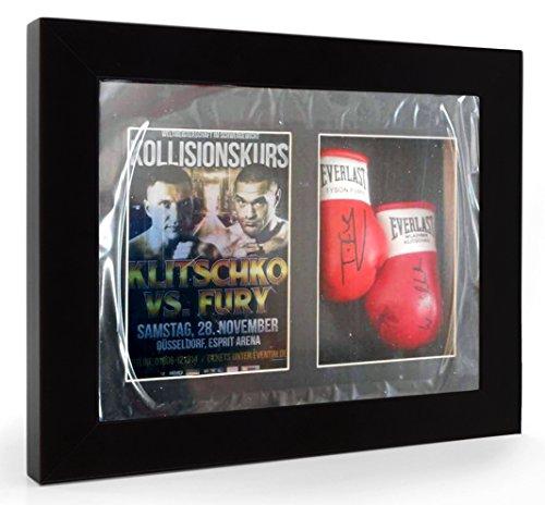 Tyson Fury Wladimir Klitschko Guantoni da boxe in miniatura con cornice Display