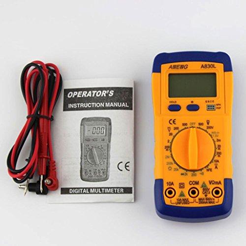 Generic Digital LCD Multimeter Messgerät DC AC Spannungsprüfer A8301- Blau & Gelb