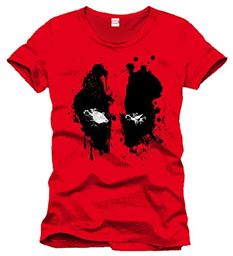 Deadpool T-Shirt Splash Head Size M CODI