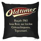 Geschenk zum Geburtstag - Oldtimer Baujahr 1965 - Kissen mit Füllung, Sofakissen