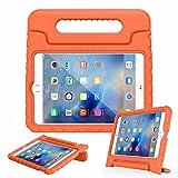 "Overbox iPad 9.7"" case Kids case multi Function Kids Childproof cover antiurto con maniglia per Apple iPad 2 3 4 Generation 9.7"" tablet Cover Black Red Blue Orange (Orange)"