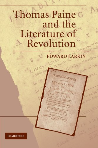 Thomas Paine and the Literature of Revolution