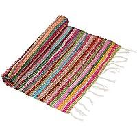 SouvNear 8,3pollici a mano colorato chindi tappetino spiaggia tappeto upcy... 'specificati non possono essere utilizzati (Riciclata Rag Tappeti)