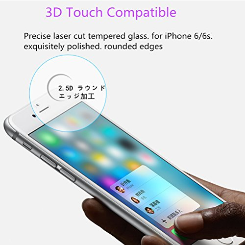 iPhone 6Plus Screen Protector, iPhone 6s Plus Screen Protector, [2Packs] by Otofly, bordo 2.5d vetro temperato, senza bolle, anti-impronte, macchie d olio e rivestimento antigraffio,