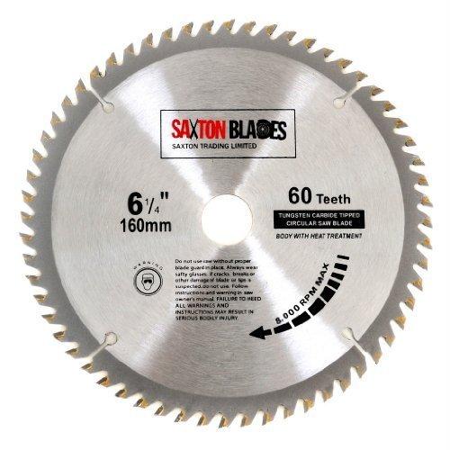 Saxton TCT Circular Wood Saw Blade 160mm x 20mm x 60T for Festool TS55 Bosch Makita etc