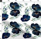 Blaubeere, Blau, Lila, Gold, Blumen Stoffe - Individuell