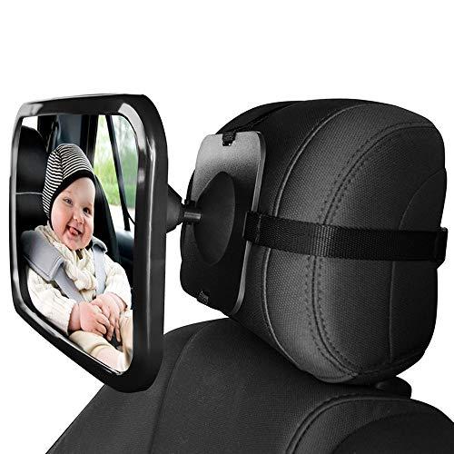 NBJKDFGDS Baby Auto Spiegel verstellbar Auto Rücksitz Rückansicht mit Blick auf Kopfstütze Mount Kinder Säugling Baby Sicherheit Monitor Zubehör (Blinde Fleck, Der Lange Spiegel)