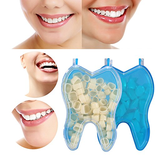 2 Kasten/100 Stück Dental Temporäre Resin Porzellan für Anterior Zähne und Posterior Zähne Füllen Ersatz Realistische Mundpflege Molar