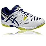 ASICS Gel-Dedicate4 Chaussures de Tennis Homme, Blanc/Bleu, 43.5