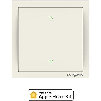 Koogeek Wi-Fi Abilitato Smart Light Switch 220 ~ 240V Funziona con Apple HomeKit Support Telecomando Siri One-way Single Pole Wall Switch su 2,4 GHz Network Monitor Consumo di Energia Beige (DIMMER)