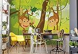 Wallsticker Warehouse Dschungel AFFE Fototapete - Tapete - Fotomural - Mural Wandbild - (1271WM) - L - 152.5cm x 104cm - VLIES (EasyInstall) - 1 Piece