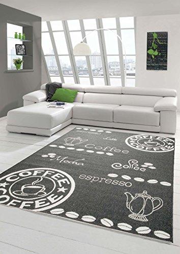Traum Tappeto moderno kilim Sisaloptik corridori cucina Moquette Cucina Caffè in bianco e nero Größe 80x150 cm