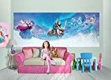 FOTOTAPETE POSTER EISKÖNIGIN ELSA Nr:N23 Kinderzimmer Dekor Wandtatoo Bordüre children wallpaper wall mural border (250x100cm 2-Teilig)