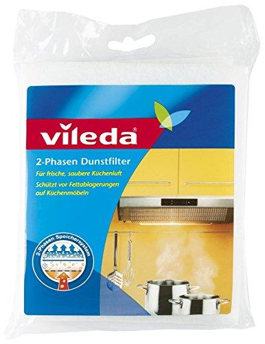 Vileda 2-Phasen Dunstfilter mit extrem hohen Fettspeichervermögen (Universalformat), 1 Stücke