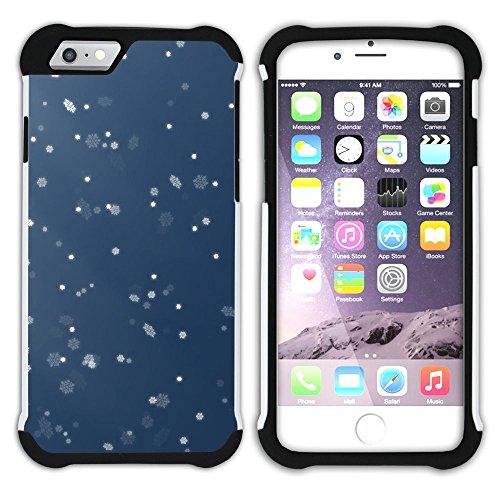 Graphic4You Schnee Schneeflocke Winter Muster Hart + Weiche Kratzfeste Hülle Case Schale Tasche Schutzhülle für Apple iPhone 6 / 6S Design #5