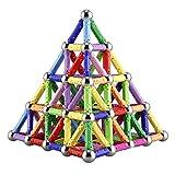 Veatree 144 pezzi puzzle blocchi magnetici giocattoli, costruzione di magnete Kit di costruzione giocattoli educativi per bambini che giocano gioco impilabile con mattoni e bastoncini magnetici