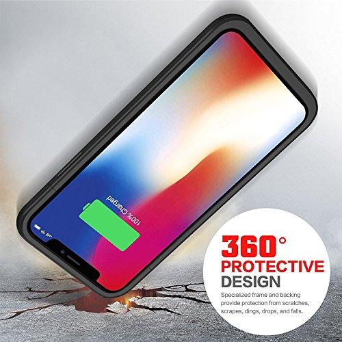 iphone x 5200mah custodia cover