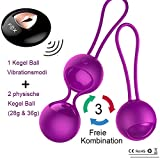 Orlupo 2 in 1 Liebeskugeln Beckenbodentrainer mit Vibration, Kegel Ball Bullet Vibrator Vibro Ei Vibrator Ei Vibratoren für sie Klitoris und G-punkt mit Fernbedienung