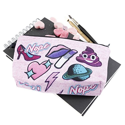 Kukubird Divertimento Nuovo Animale Foto Modello Stampa Make-up Bag Con Sacchetto Di Polvere Di Kukubird Nope Cute Patch