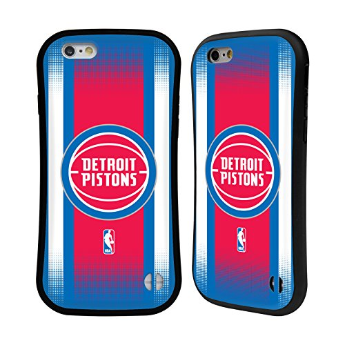 Ufficiale NBA Camouflage Digitale Detroit Pistons Case Ibrida per Apple iPhone 7 / iPhone 8 Gradiente Mezzotono