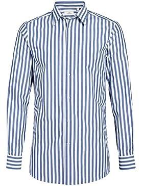 next Hombre Conjunto De Camisa Corte Entallado Rayas Anchas Y Corbata