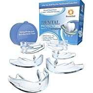 Dental Mouth Guard for Teeth Grinding x 6 (3 Sizes) RuneSol   Teeth Grind Night Guard   TMJ Tooth Guards for Teeth Grinding, Bruxism and to Stop Clenching Teeth