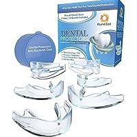 6 x Zahnschutz gegen Zähneknirschen | Easy Mould Technology | 6er Pack in 3 Größen | Aufbissschiene gegen Zahnknirschen... - preisvergleich