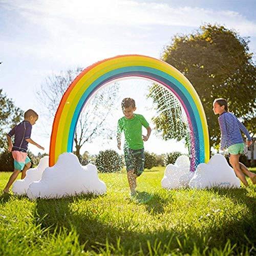 r-Regenbogen-Bogen-Sprinkler, Sommer-Wasserspray-kühles Spiel-Spaß-Spielzeug im Freien für Kind-Erwachsenen, PVC-Material ()
