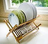 #10: 7Trees Folding 2-Tier Bamboo Dish Drying Rack