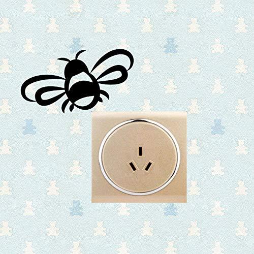 Karikatur-Raumschalter-Dekoration kühle Honey Bee Spread Wings Interesting Wall Sticker Interesting (Bee Honey Dekorationen)
