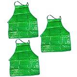 COM-FOUR PVC Gartenschürze - Perfekt für die Gartenarbeit geeignet - Schützt ihre Kleidung effektiv vor Schmutz und Feuchtigkeit (3 Stück)