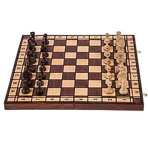 Scacchi in legno - JUPITER - 40 x 40 cm - Scacchiera & Pezzi degli scacchi