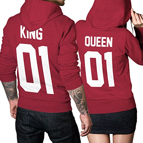 #King Queen 01 SET 2 Hoodies Pärchen Pullover SET#