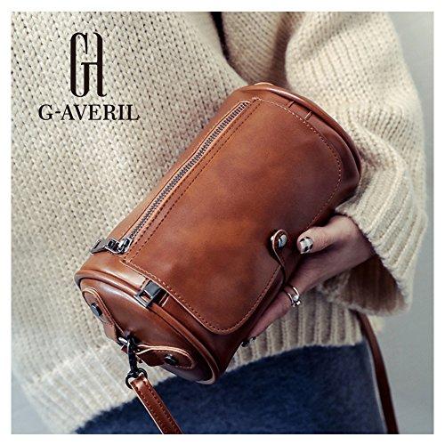 G-AVERIL, Borsa a spalla donna nero Black Light brown