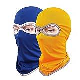 Máscara de balaclava para la cara, de secado rápido, de licra, transpirable, 2 unidades